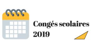 congés scolaires 2019 belgique